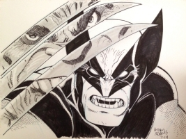 Wolverine vs. Hulk (Incredible Hulk 340 Homage) by Arthur Adams, Comic Art