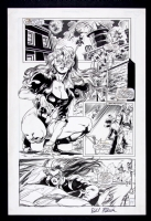 Femforce #91 Page 14 - She-Cat, Rayda & Crimebuster Comic Art