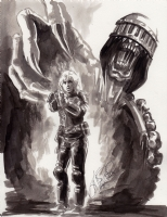 Judge Death and Judge Anderson (Dredd movie version) Comic Art