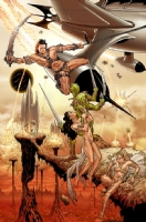 Terry Moore - John Carter & Dejah Thoris colored by Frankie D'Armata Comic Art