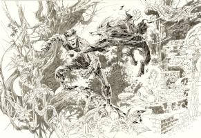 Alex Nino Frankenstein vs the Wolfman Comic Art