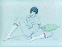 Ragazza con calzettoni Comic Art