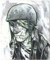 Eric Talbot-Blinded Soldier Comic Art