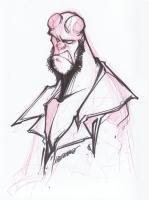 Francisco Herrera-Hellboy Comic Art