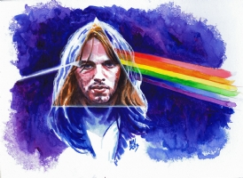 David Gilmour of Pink Floyd - Dark Side of the Moon, Comic Art