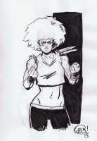 Tujiro gender bent - Chris Yarbrough Comic Art