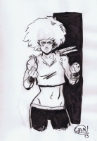 Tujiro gender swap - Chris Yarbrough Comic Art