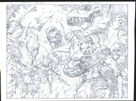JOE MADUREIRA ULTIMATES 3 DOUBLE-PAGE SPREAD Comic Art