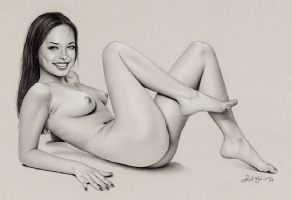Nudity Alert~~Smallville~Kristen Kreuk Nude Study Comic Art