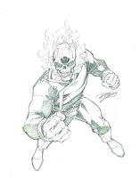 Ghost Rider by Ron Lim Comic Art