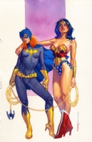 The Girl and the Goddess By Brian Stelfreeze, Comic Art