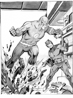 The Flash vs. Mirror Master Comic Art