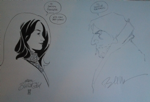Fables Jam with Snow White and Bigby Wolf by Mark Buckingham and Bill Willingham Comic Art