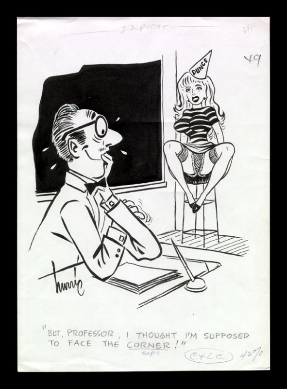 Hurric - Sex to Sexty gag Comic Art