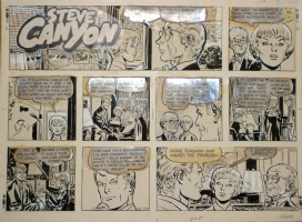 Steve Canyon Sunday 2.17.74 Comic Art