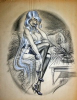 Bill Ward Telephone Girl Comic Art