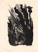 Lynd Ward - Weeding - Woodblock Engraving - 1954, Comic Art