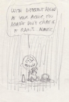 Charles Schulz  - Charlie Brown in the Rain, Comic Art