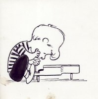 Charles Schulz - Schroeder Playing the Piano, Comic Art