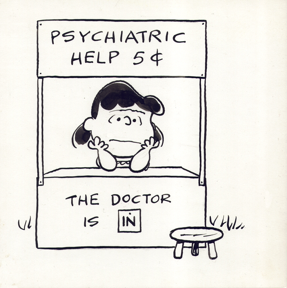 Charles Schulz  - Lucy: The Doctor is in Comic Art