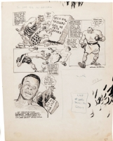 Willard Mullin - 1953 Boxing Cartoon - Jersey Joe Walcott and Archie Moore Comic Art