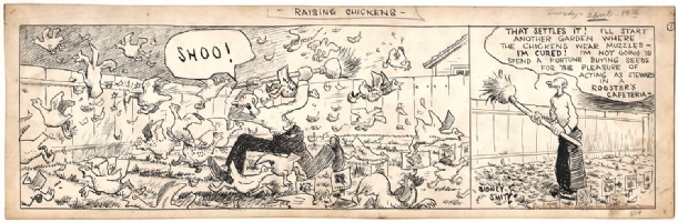 Sidney Smith - The Gumps - 1927 - Chickens!, Comic Art