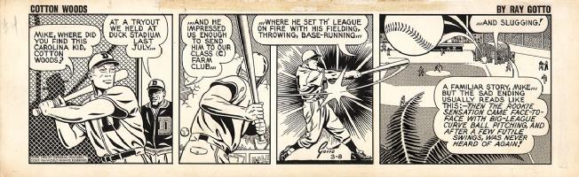 Ray Gotto - Cotton Woods - 1956 Comic Art