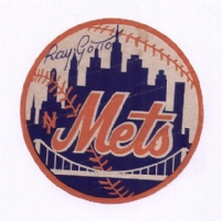 Ray Gotto - Color NY Mets Logo Comic Art