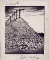 Burris Jenkins - Holocaust Political Cartoon - 1940s Comic Art