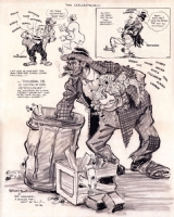 Willard Mullin - 1939 Bum Cartoon - Brooklyn Dodgers Comic Art