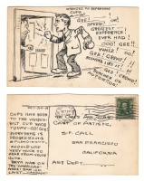 Randall Thoms - 1908 Illustrated Postcard #2 - R.C. Ewer Comic Art