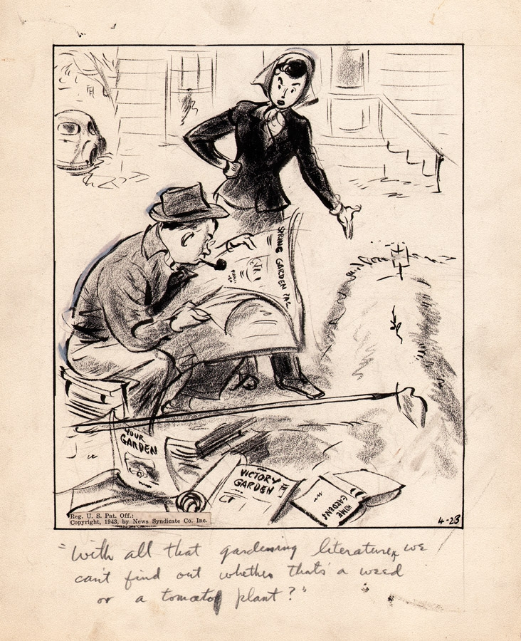 George Clark - The Neighbors - 1943 - WWII Victory Garden Comic Art
