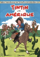 Al Severin - Tintin en Amerique Cover Painting, Comic Art