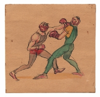 Gregor Duncan - Two Boxers, Comic Art