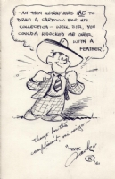 Jack Kent Self Caricature - 1940 Comic Art