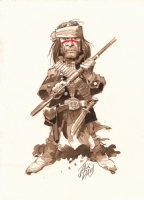 Jack Davis - American Indian - Watercolor 2005, Comic Art