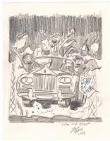 Jack Davis - TIME Magazine Cover Prelim, Comic Art
