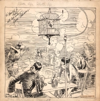 Gaar Williams - 1926 Prohibition Speakeasy Cartoon, Comic Art
