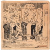 Gaar Williams - Locker Room Panel Cartoon - 1925, Comic Art