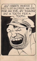 Roy Crane - 1935 Wash Tubbs - Bull Dawson Panel, Comic Art