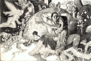 Bigby Wolf and Snow White from Fables Comic Art