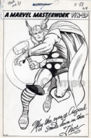 JACK KIRBY THOR PIN-UP TO JIM 110 Comic Art