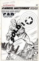 CAPTAIN AMERICA PIN-UP FROM AVENGERS #10 Comic Art