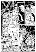Sample Page of Red Sonja Comic Art