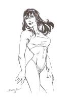 Mark Bagley - Mary Jane In Her Spidey Panties Comic Art