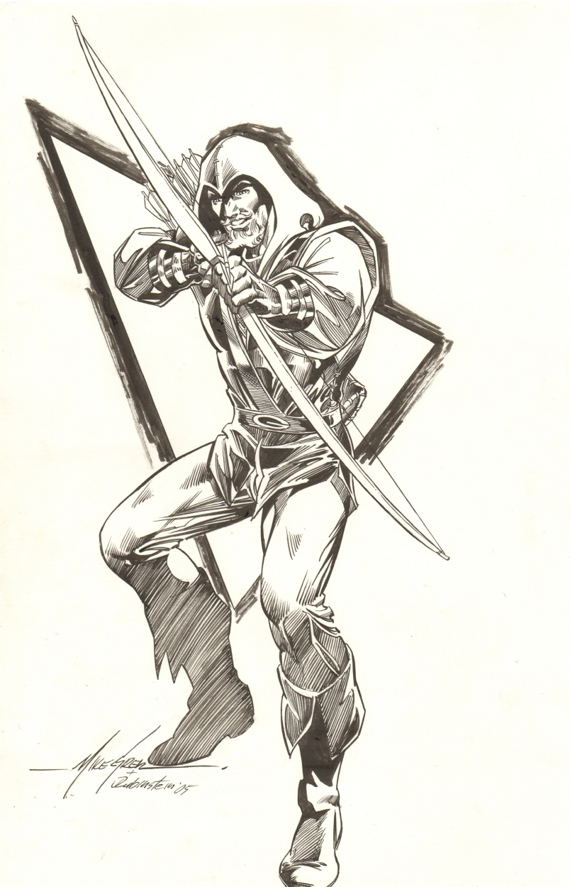 Green Arrow: Mike Grell / Josef Rubinstein Comic Art