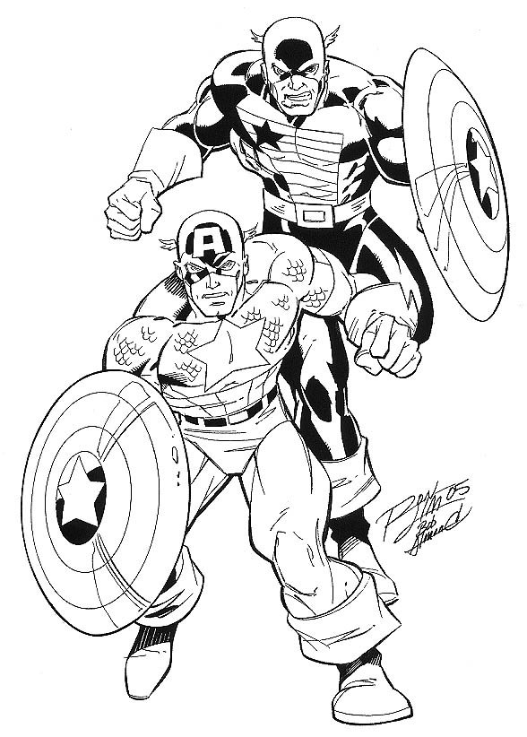Captain America and the USAgent: Ron Lim / Bob Almond Comic Art