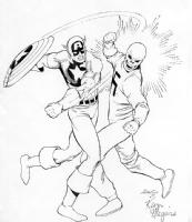 Captain America vs. The Red Skull : Kevin Maguire / Joe Rubinstein Comic Art