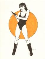 Girl with Gun : Dan Adkins Comic Art