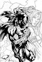 Black Panther and Storm : Ron Adrian / Bob Almond, Comic Art